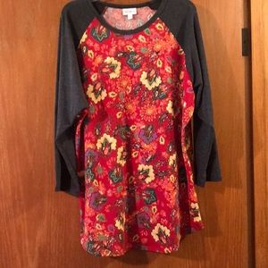 LuLaRoe Randy Abstract Floral Design Sz XL